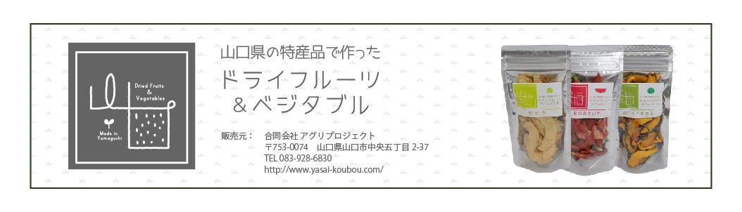 山口県の特産品で作った ドライフルーツ&ベジタブル