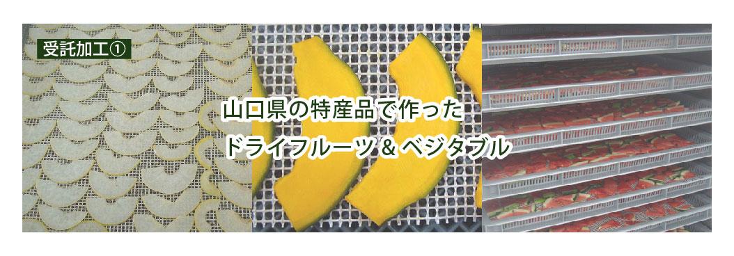 山口県の特産品で作ったドライフルーツ&ベジタブル